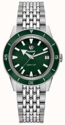 RADO 'captain cook' bracelet automatique en acier inoxydable cadran vert R32500328