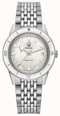 RADO 'captain cook' bracelet automatique en acier inoxydable cadran blanc R32500013