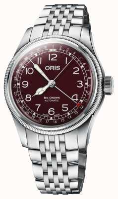 ORIS Grande couronne aiguille date 40 mm cadran rouge 01 754 7741 4068-07 8 20 22