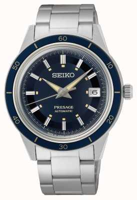 Seiko Montre à cadran bleu style Presage des années 60 SRPG05J1