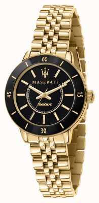 Maserati Montre femme solaire successo noir et or R8853145503