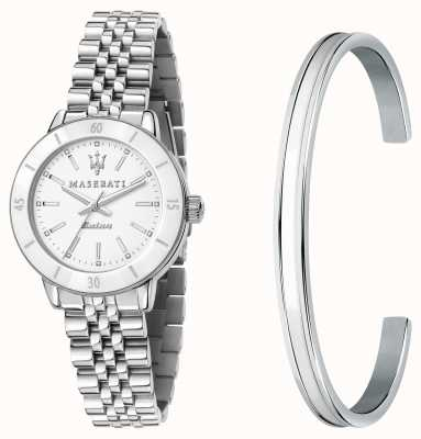 Maserati Coffret cadeau montre femme solaire Successo et bracelet jonc R8853145507