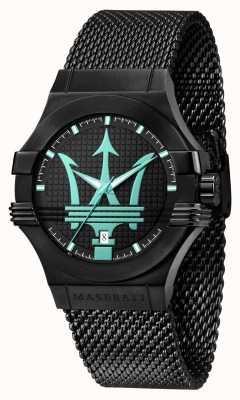 Maserati Bracelet en maille noire Potenza Aqua Edition R8853144002