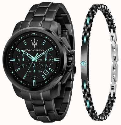 Maserati Montre et bracelet cadeau Aqua Edition pour homme R8873644004