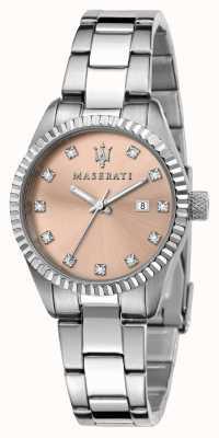 Maserati Cadran rose competizione pour femme serti de cristal R8853100509
