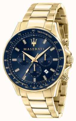 Maserati Montre homme Sfida plaquée or jaune R8873640008