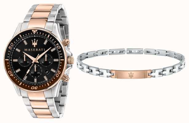 Maserati Coffret cadeau homme Sfida bracelet et montre R8873640010
