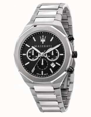 Maserati Montre chronographe en acier inoxydable pour homme Stile R8873642004