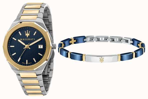 Maserati Coffret cadeau homme Stile 3h montre et bracelet R8853142008