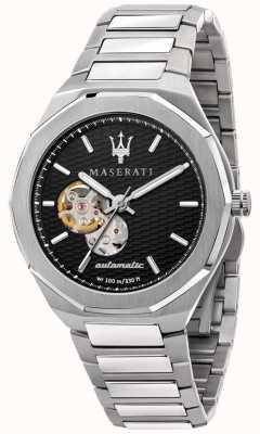 Maserati Stile homme automatique | bracelet en acier inoxydable | cadran noir R8823142002