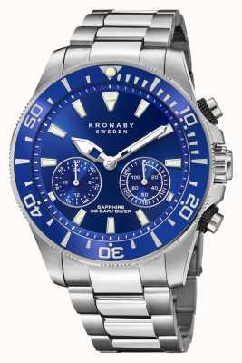 Kronaby Collection Diver | bluetooth | cadran bleu | acier inoxydable S3778/1