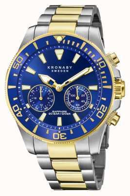 Kronaby Collection Diver | bluetooth | cadran bleu | bracelet en acier bicolore S3779/1
