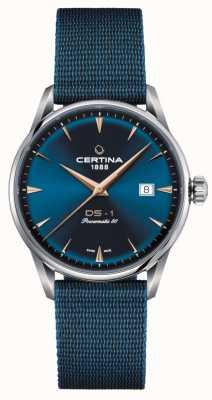 Certina Montre Ds-1 powermatic 80 cadran bleu C0298071104102
