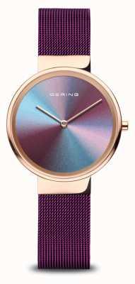 Bering Femmes | or rose poli | bracelet en maille violette 10X31-ANNIVERSARY3