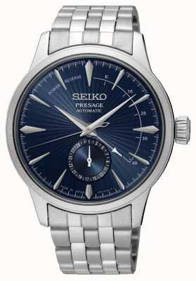 Seiko Présage de l'heure du cocktail 'la lune bleue' | bracelet en acier inoxydable | cadran bleu SSA347J1