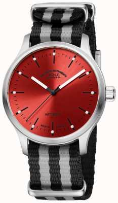 Muhle Glashutte Bracelet nato bicolore rouge Panova M1-40-78-NB