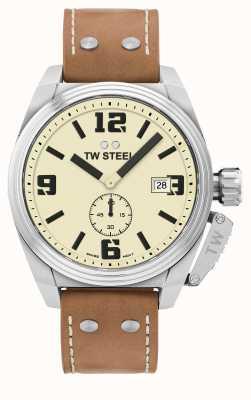 TW Steel Bracelet homme en cuir marron cantine TW1000