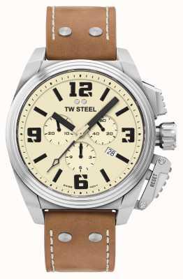TW Steel Cadran crème de chronographe de cantine TW1010