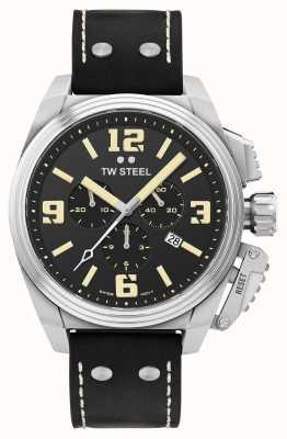 TW Steel Cantine chronographe bracelet cuir noir TW1011