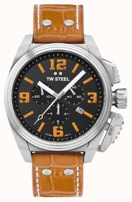 TW Steel Montre bracelet cuir orange Cantine TW1012