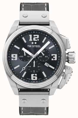 TW Steel Montre bracelet cuir gris cantine TW1013