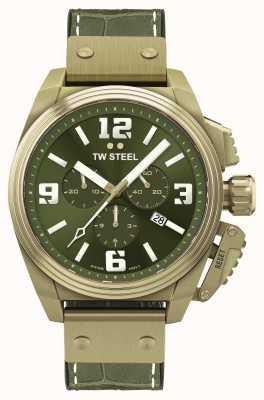 TW Steel Cantine bronze plaqué pvd cadran vert TW1015
