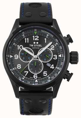 TW Steel | volante | édition petter solberg | bracelet en cuir noir | SVS306