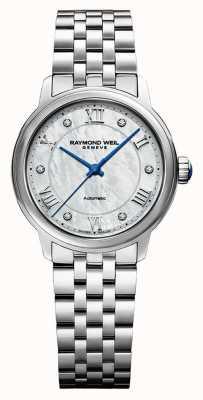Raymond Weil Femmes | maestro | automatique | cadran en nacre | bracelet en acier inoxydable 2131-ST-00966