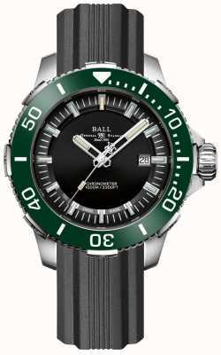 Ball Watch Company Bracelet caoutchouc lunette verte céramique Deepquest DM3002A-P4CJ-BK