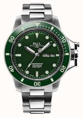 Ball Watch Company Cadran vert original en hydrocarbure pour homme (43 mm) DM2218B-S2CJ-GR