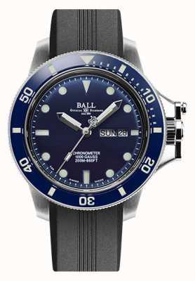 Ball Watch Company Bracelet en caoutchouc noir d'origine ingénieur pour hommes (43 mm) DM2218B-P1CJ-BE