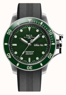 Ball Watch Company Bracelet en caoutchouc à cadran vert d'origine ingénieur hydrocarbure (43 mm) DM2218B-P2CJ-GR
