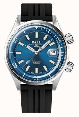 Ball Watch Company Ingénieur master ii plongeur chronomètre cadran bleu bracelet en caoutchouc DM2280A-P1C-BE