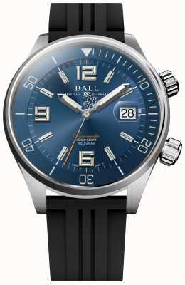 Ball Watch Company Chronomètre de plongée cadran soleillé bleu bracelet caoutchouc DM2280A-P2C-BE
