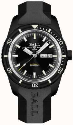 Ball Watch Company Bracelet en caoutchouc noir héritage Skindiver DM3208B-P4-BK