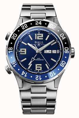 Ball Watch Company Cadran bleu lunette en céramique Roadmaster marine gmt DG3030B-S1CJ-BE