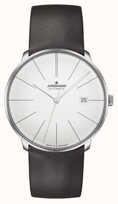Junghans Meister fein automatique | bracelet en cuir marron 27/4152.00