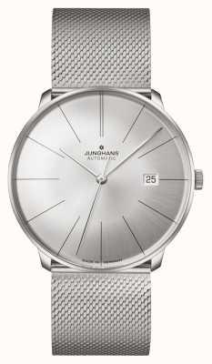 Junghans Meister fein automatique | bracelet en maille d'acier 27/4153.44