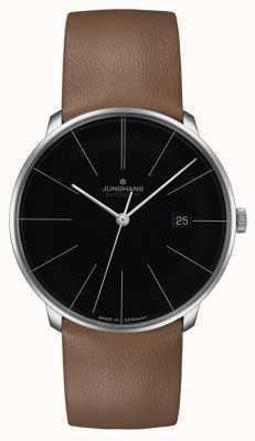 Junghans Bracelet en cuir automatique Meister fein 27/4154.00