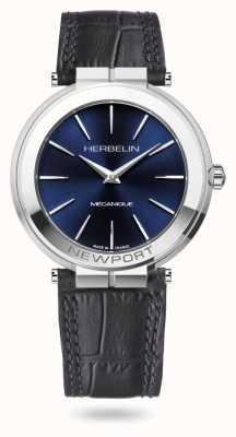 Michel Herbelin Montre Newport slim 42 mm à cadran bleu 1222/AP15