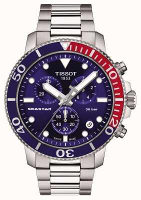Tissot Chronographe à quartz Seastar 1000 bleu T1204171104103