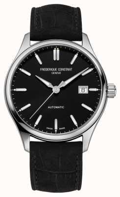 Frederique Constant Bracelet cuir noir index classique 40 mm FC-303NB5B6
