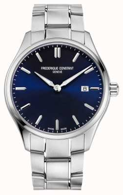 Frederique Constant Cadran bleu classique à quartz 40 mm FC-220NS5B6B