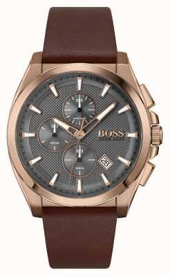 BOSS Grand maître sport lux | bracelet en cuir marron 1513882