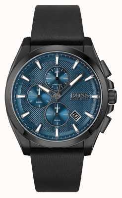 BOSS | grand maître sport lux | bracelet en cuir noir | 1513883