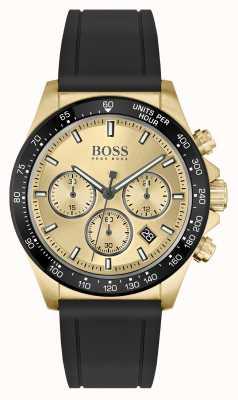 BOSS Héros sport lux | bracelet noir | boîtier en pvd en or 1513874