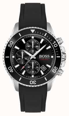 BOSS | amiral athleisure | bracelet en caoutchouc noir | 1513912