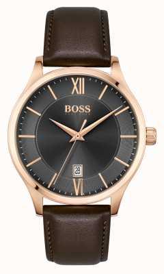 BOSS | affaires d'élite | bracelet en cuir marron | 1513894