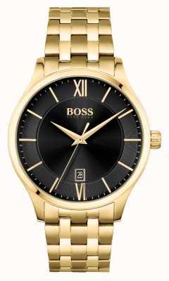 BOSS | affaires d'élite | bracelet en or | cadran de date noir | 1513897