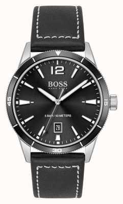 BOSS Ensemble montre et bracelet en cuir noir 1570124